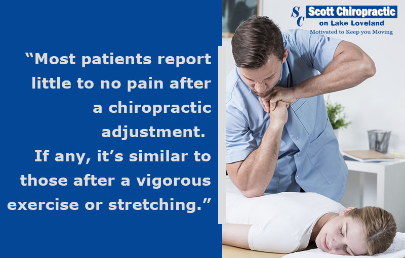 most patients report little to no pain after a chiropractic adjustment