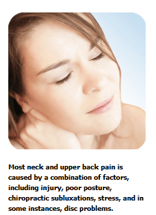 back pain upper neck issues
